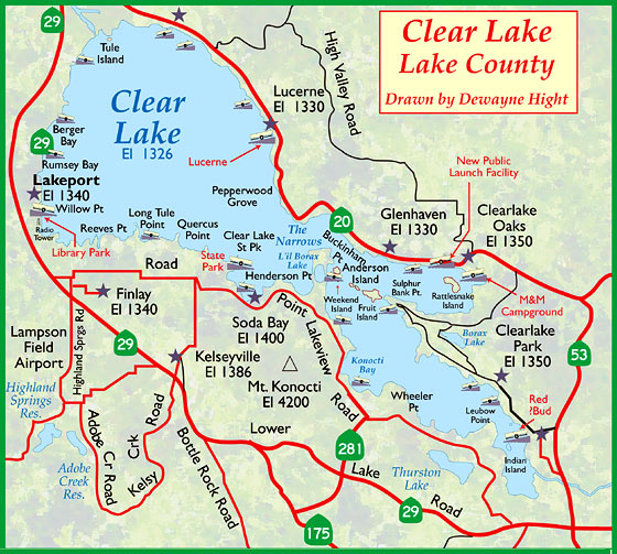 clearlake map